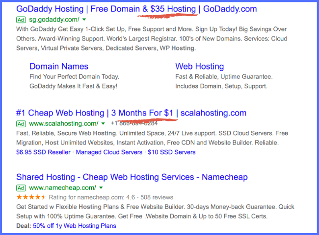Developing ad copy for PPC- actual ad